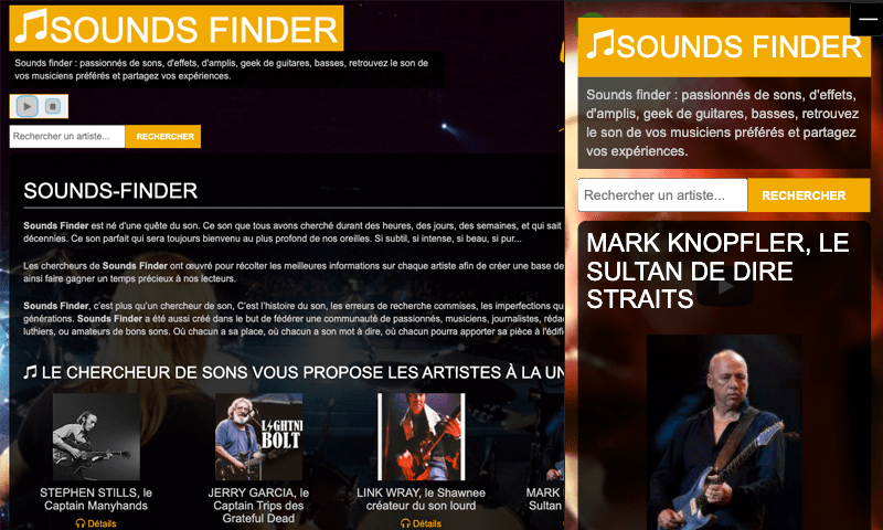 Le webzine : sounds-finder