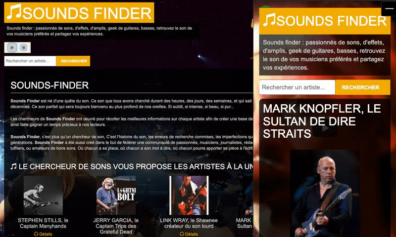 Le webzine : sounds-finder